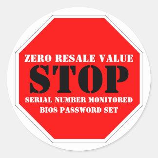 Theft Deterrent Warning Sticker