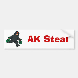 theif, AK, AK Steal bumper sticker