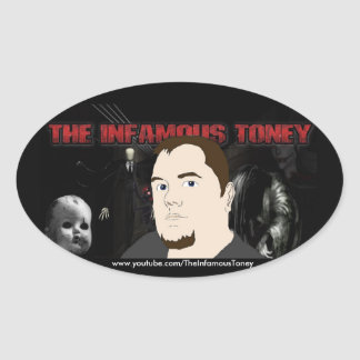 TheInfamousToney Oval Sticker Stickers