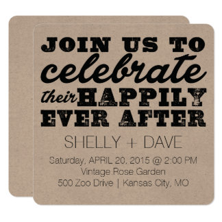 Their Happily Ever After Wedding Invitation