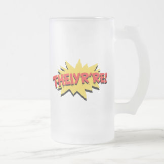 Theiyr're Frosted Glass Beer Mug