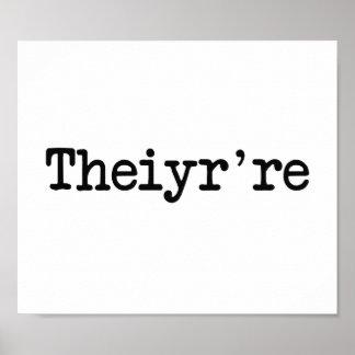 Theiyr're su allí son error tipográfico de la póster
