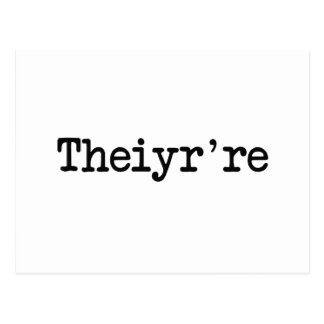 Theiyr're Their There They're Grammer Typo Postcard