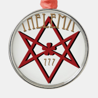 Thelema 777  metal ornament