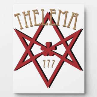 Thelema 777  plaque