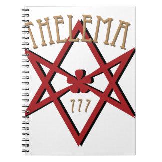 Thelema 777  spiral notebook