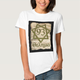 THELEMA STYLE OCCULT DESIGN TEE SHIRT