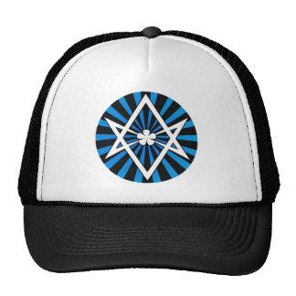 Thelema Unicursal Hexagram Blue Sunburst Hat