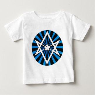 Thelema Unicursal Hexagram Blue Sunburst Tee Shirt
