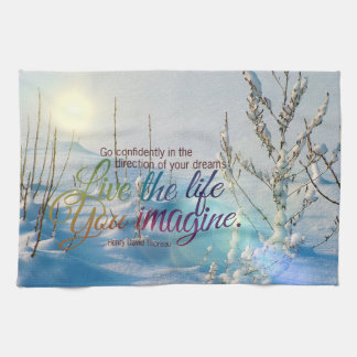 TheLife You Imagine Winter Snow MotivationalQuote Hand Towel