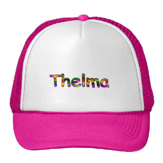Thelma's pink trucker hat