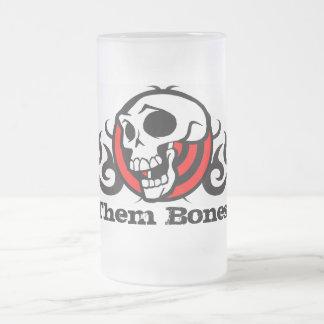 Them Bones frosted Beer Mug