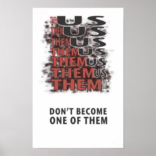 Them Versus Us - Zombie Apocalypse Poster