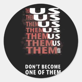 THEM versus US - Zombie Apocolypse Classic Round Sticker