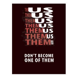 THEM versus US - Zombie Apocolypse Postcard