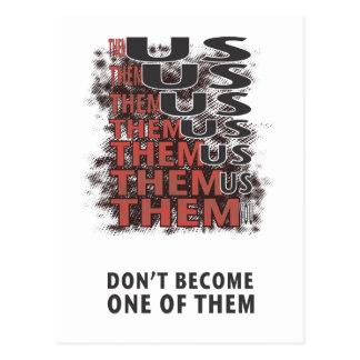 Them Versus Us - Zombies! Postcard