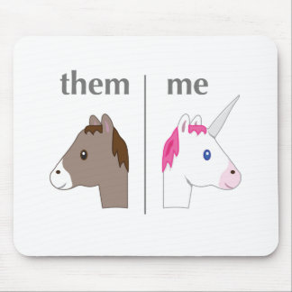 Them vs Me Donkey vs Unicorn funny Mouse Pad