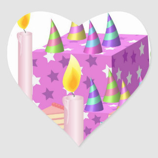 Theme Celebrations :  Enjoy n Share Joy Heart Sticker