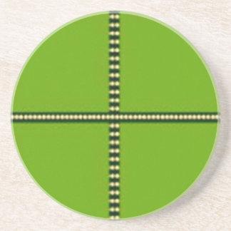 Theme Four Square - Satin Silk Sleek Designs Beverage Coasters