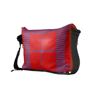 Theme Four Square - Satin Silk Sleek Designs Messenger Bag