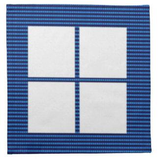 Theme Four Square - Satin Silk Sleek Designs Printed Napkin