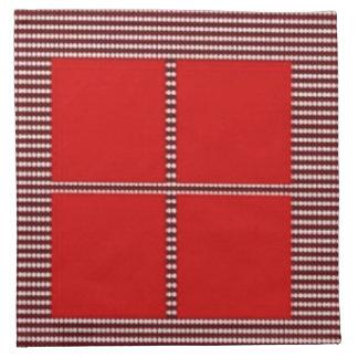 Theme Four Square - Satin Silk Sleek Designs Napkin