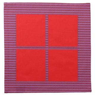 Theme Four Square - Satin Silk Sleek Designs Napkins