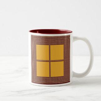 Theme Four Square - Satin Silk Sleek Designs Two-Tone Coffee Mug