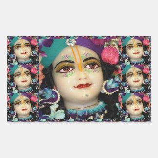 Theme : KRISHNA Devotion Chant n Meditate Rectangular Sticker