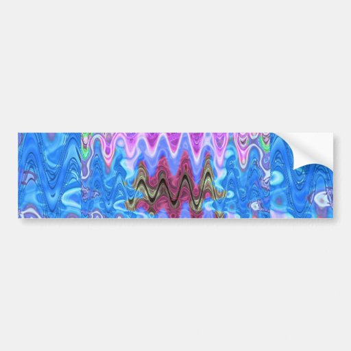 Theme Purple Wave Car Bumper Sticker