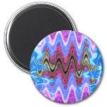 Theme Purple Wave Fridge Magnets