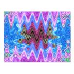Theme Purple Wave Postcard