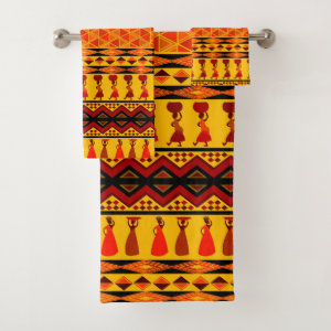 Themed African Tribal pattern towel set