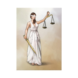 Themis - Lady Justice Canvas Print