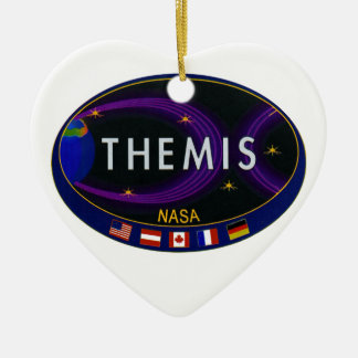 THEMIS Double-Sided HEART CERAMIC CHRISTMAS ORNAMENT