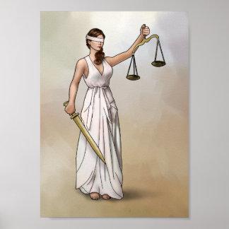Themis - señora Justice Póster