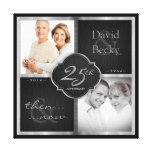 Then and Now 25th Wedding Anniversary Stretched Canvas Print