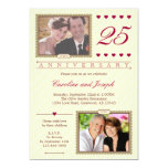 Then and Now 25th Wedding Anniversary Invitation
