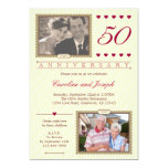 Then and Now 50th Wedding Anniversary Invitation
