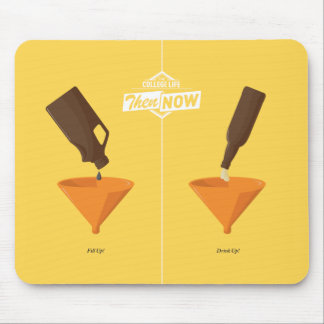 Then And Now: Beer Pong Mouse Pad