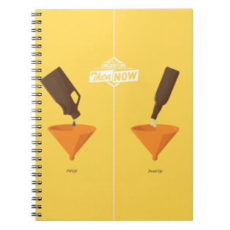 Then And Now: Beer Pong Spiral Notebook