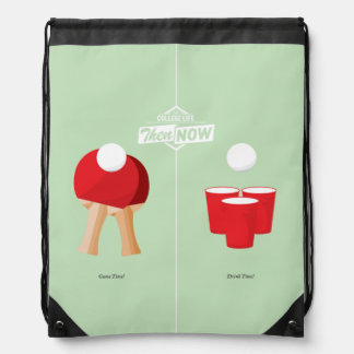 Then And Now: Ping Pong Drawstring Backpack