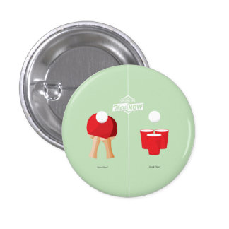 Then And Now: Ping Pong Pinback Button