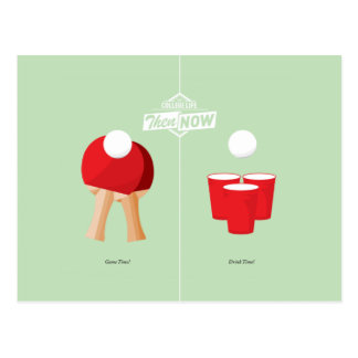 Then And Now: Ping Pong Postcard