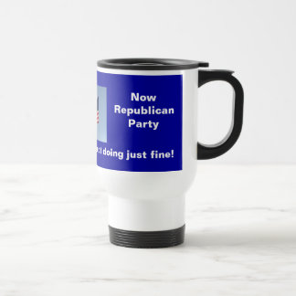 Then Democratic Now Republican Travel Mug