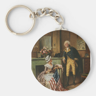 Then Now and Forever, Percy Moran, c1908 Keychains