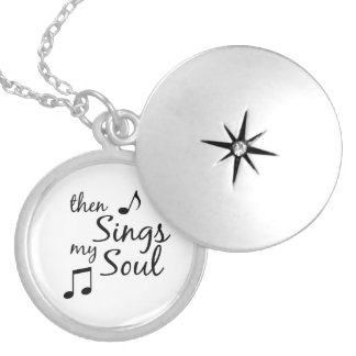 Then Sings my Soul Quote Silver Plated Necklace