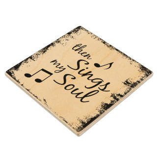 Then Sings my Soul Wood Coaster