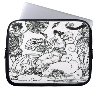 'Then The Queen of the Air Fluttered into The Room Laptop Sleeve