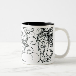 'Then The Queen of the Air Fluttered into The Room Two-Tone Coffee Mug